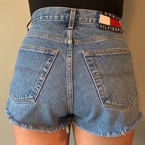 Tommy Hilfiger High Waisted Distressed Shorts